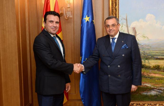 Средба на премиерот Заев со азербејџанскиот амбасадор Багиров