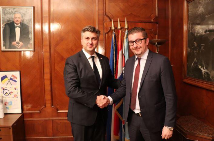 Мицкоски Пленковиќ  Македонија и Хрватска се значајни партнери  ВМРО ДПМНЕ лобира за стратешките интереси