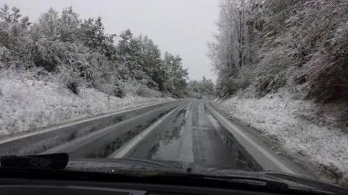 Сообраќајот се одвива во зимски услови по влажни коловози