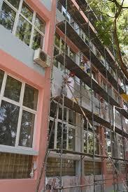 Реконструкција на фасади  покриви  пристапни рампи во средните училишта во Скопје