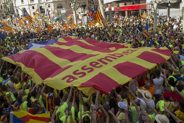 Околу милион луѓе побараа отцепување на Каталонија