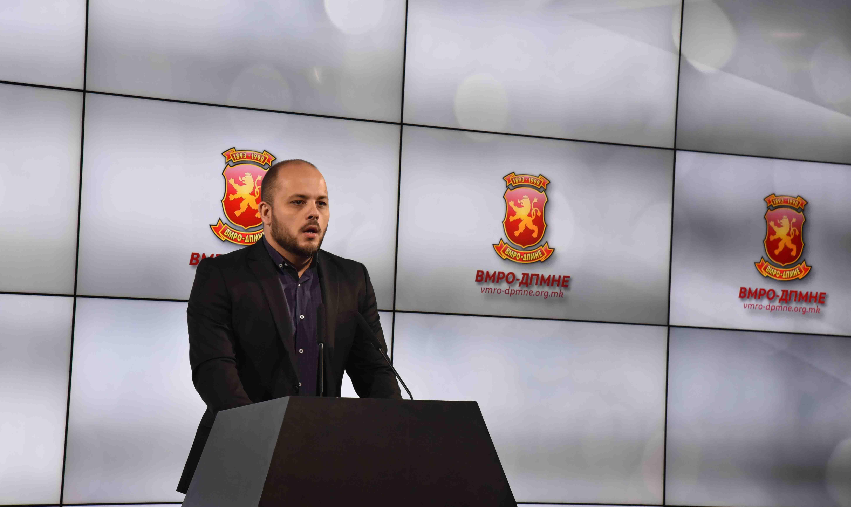ВМРО ДПМНЕ   Законот за двијазичност е неуставен и води кон поделби на државата