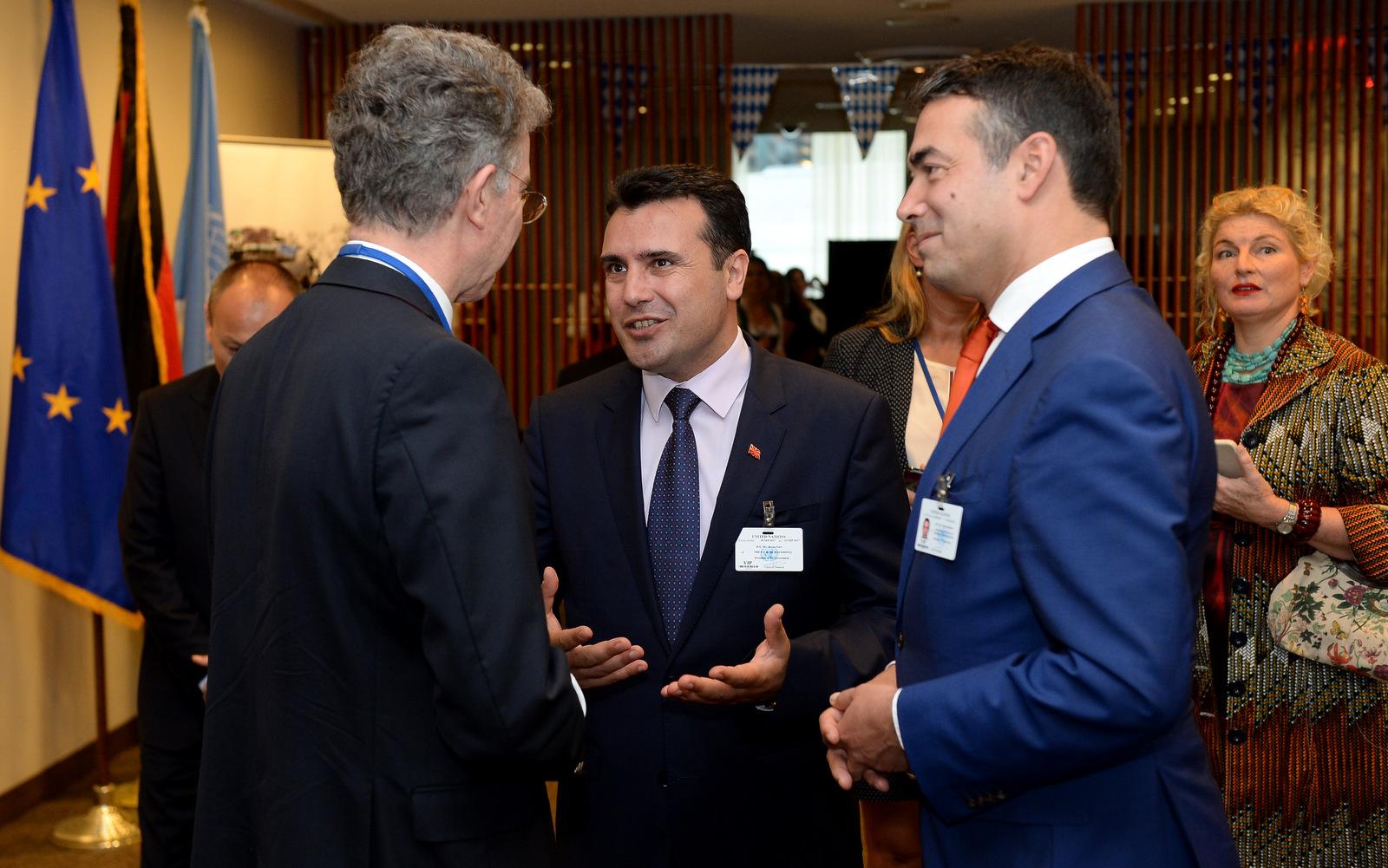 Премиерот Заев на прием во организација на германскиот шеф на дипломатијата  Зигмар Габриел