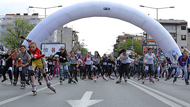 Во Скопја шеста  Ролер трка 2017