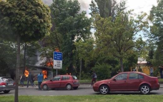 Голем пожар во Скопје