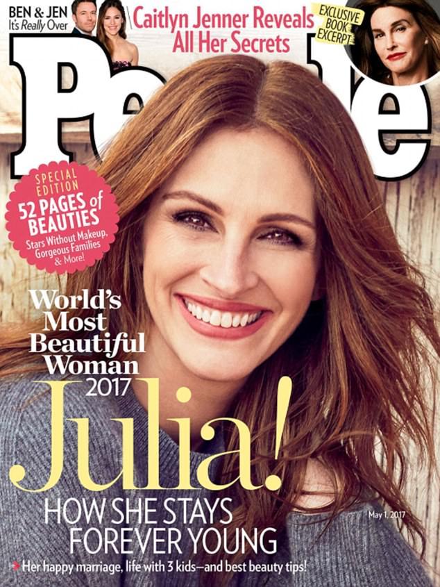 People ја прогласи Џулија Робертс за најубава жена на светот   по петти пат