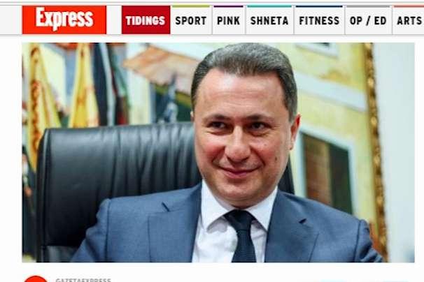 Груевски  Некој сакаше да ме претстави како нечесен и корумпиран