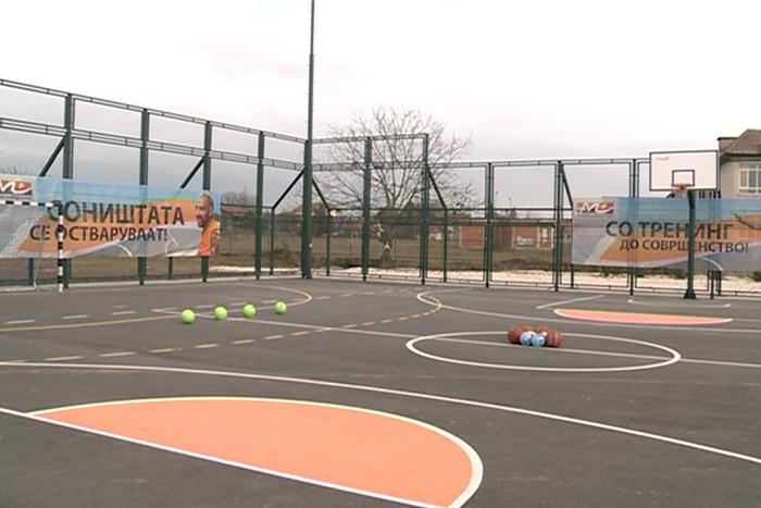 Пуштено во употреба повеќенаменско игралиште во општина Бутел