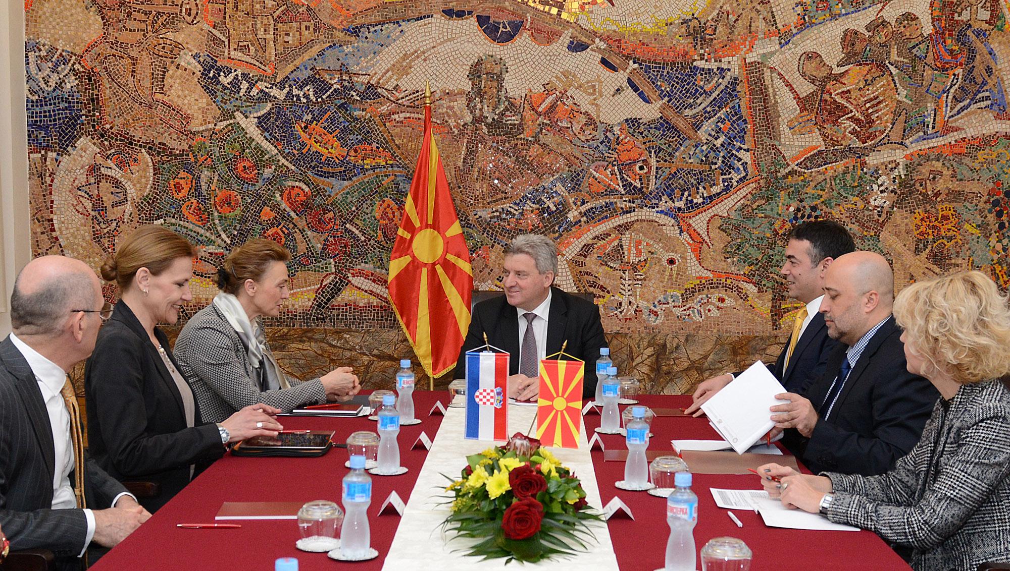 Претседателот Иванов се сретна со хрватската вицепремиерка Марија Пејчиновиќ Буриќ