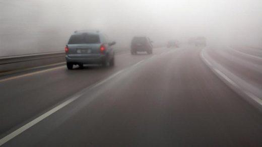 Намалена видливост поради магла на Страцин  Стража и Крива Паланка Деве Баир