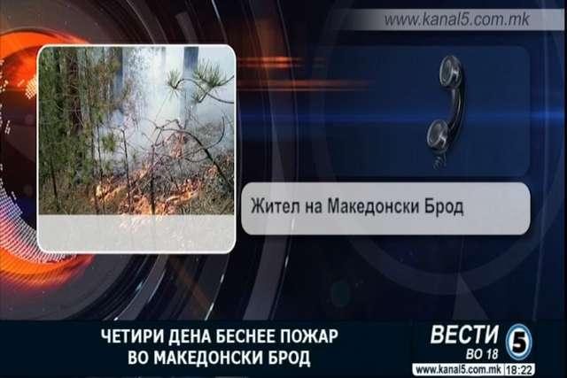 Четири дена беснее пожар во близина на Македонски Брод