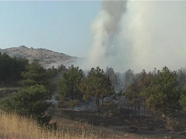 Пожарот во близина на манастирот Трескавец повторно активен