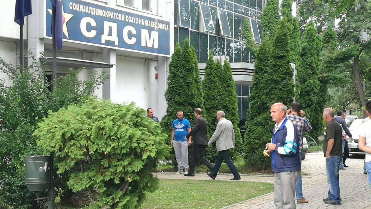 СДСМ   Празната сала за време на обраќањето на Груевски е порака и од неговото членство