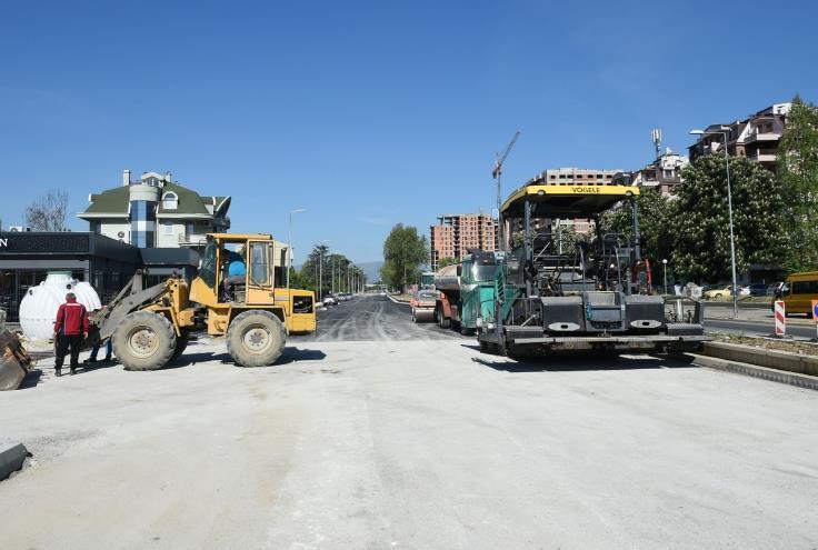 Град Скопје: Изградбата на бул Босна и Херцеговина влегува во завршна фаза