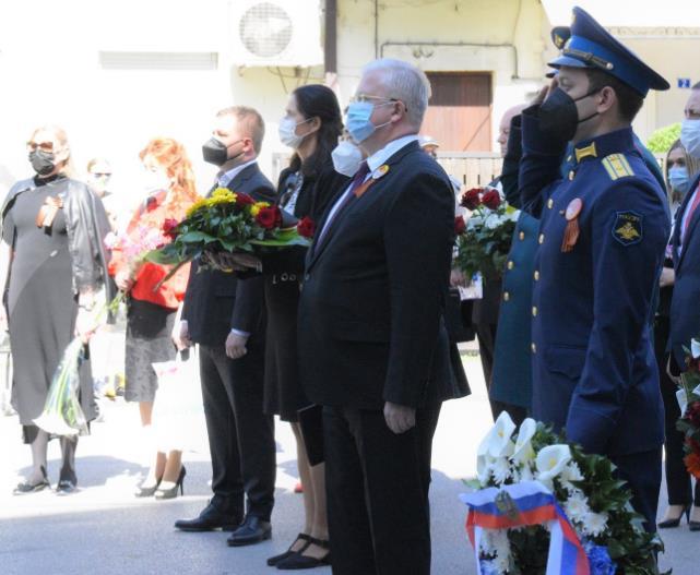 Одбележан Денот на победата над фашизмот во Општина Центар со присуство на повеќе амбасадори