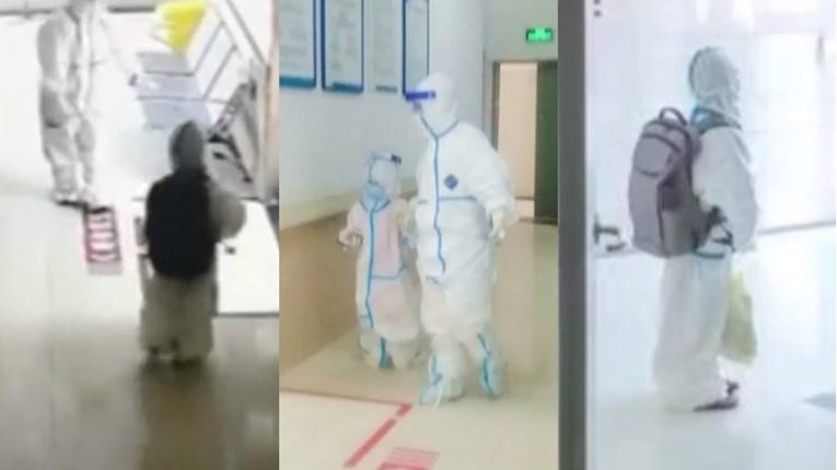 Во кинеските ковид- болници малите деца се без придружба и во заштитни комбинезони (ВИДЕО)