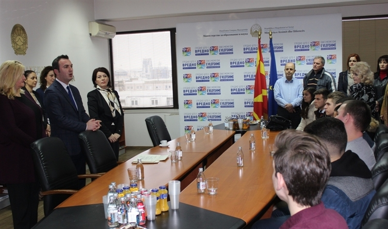 """Ученици од Охрид победници на натпреварот """"Лидер на струка 2019"""""""