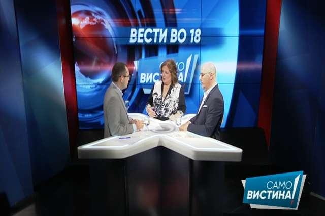 Златко Кескоски и Филип Стојковски во  Само вистина   во вестите во 18 часот
