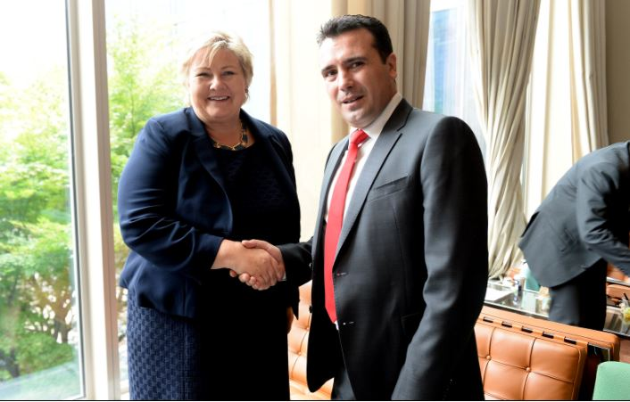 Средба на премиерот Заев со норвешката премиерка Солберг
