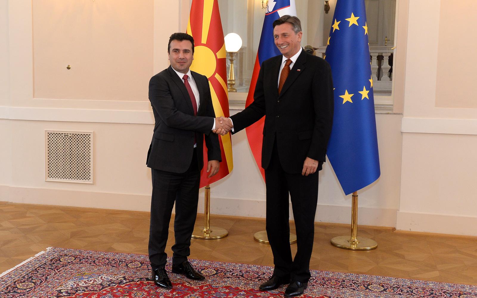 Премиерот Заев се сретна со Претседателот на Словенија Борут Пахор