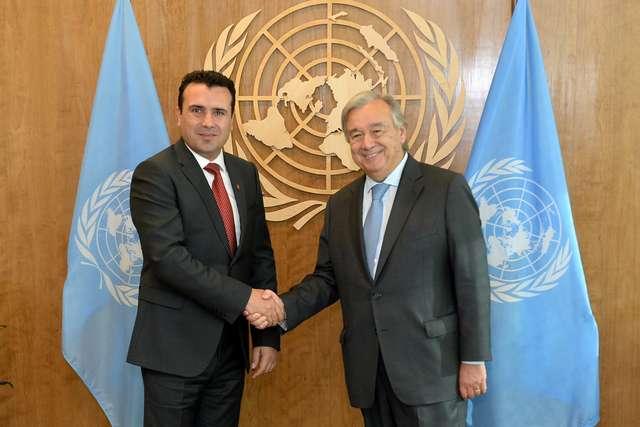 Средба на премиерот Заев со генералниот секретар на ОН   Гутереш